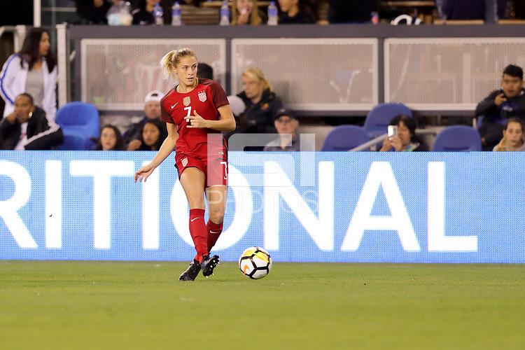 San Jose, CA - November 12, 2017: The USWNT defeats Canada 3-1 in an international friendly at Avaya Stadium.