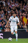 Karim Benzema of Real Madrid in action during the UEFA Champions League Semi-final 2nd leg match between Real Madrid and Bayern Munich at the Estadio Santiago Bernabeu on May 01 2018 in Madrid, Spain. Photo by Diego Souto / Power Sport Images