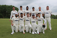 Hornchurch pose for a team photo during Shenfield CC (batting) vs Hornchurch CC (Bowling) ,Shepherd Neame Essex League Cricket at Chelmsford Road on 12th May 2018