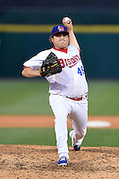 Buffalo Bisons pitcher Mike Zagurski (46) delivers a pitch during a game against the Durham Bulls on July 10, 2014 at Coca-Cola Field in Buffalo, New  York.  Durham defeated Buffalo 3-2.  (Mike Janes/Four Seam Images)