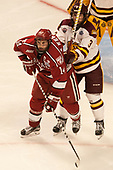 Alexander Kerfoot (Harvard - 14), Dan Molenaar (UMD -3) - The University of Minnesota Duluth Bulldogs defeated the Harvard University Crimson 2-1 in their Frozen Four semi-final on April 6, 2017, at the United Center in Chicago, Illinois.