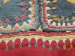 ANTIQUE BANJARA GHODIYU OR CRADLE HAMMOCK CLOTH WITH TRIBAL EMBROIDERY & COWRIE SHELLS