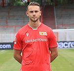 06.07.2019, Stadion an der Wuhlheide, Berlin, GER, 2.FBL, 1.FC UNION BERLIN , Mannschaftsfoto, Portraits, <br /> DFL  regulations prohibit any use of photographs as image sequences and/or quasi-video<br /> im Bild Marcus Ingvartsen (1.FC Union Berlin #57)<br /> <br /> <br />      <br /> Foto © nordphoto / Engler
