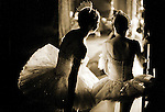 English National Ballet dancers watching from the wings...