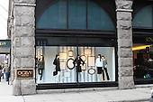 Ogilvy's store front window on the corner of Ste-Catherine street in downtown Montreal,Quebec