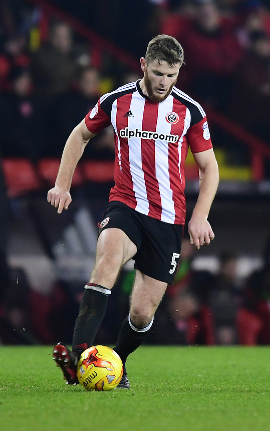 Sheffield United's Jack O'Connell<br /> <br /> Photographer Chris Vaughan/CameraSport<br /> <br /> The EFL Sky Bet League One - Sheffield United v Fleetwood Town - Tuesday 24th January 2017 - Bramall Lane - Sheffield<br /> <br /> World Copyright &copy; 2017 CameraSport. All rights reserved. 43 Linden Ave. Countesthorpe. Leicester. England. LE8 5PG - Tel: +44 (0) 116 277 4147 - admin@camerasport.com - www.camerasport.com