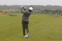 Eddie Pepperell (ENG) on the 18th fairway during Round 2 of the Alfred Dunhill Links Championship 2019 at Kingbarns Golf CLub, Fife, Scotland. 27/09/2019.<br /> Picture Thos Caffrey / Golffile.ie<br /> <br /> All photo usage must carry mandatory copyright credit (© Golffile | Thos Caffrey)