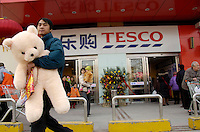 British retail giant Tesco opened its first outlet in Beijing, China..27 Jan 2007