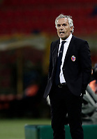 Calcio, Serie A: Bologna, stadio Renato Dall'Ara, 19 settembre 2017.<br /> Bologna's coach Maurizio Donadoni speaks to his players during the Italian Serie A football match between Bologna and Inter Milan at Bologna's Renato Dall'Ara stadium, September 19, 2017.<br /> UPDATE IMAGES PRESS/Isabella Bonotto