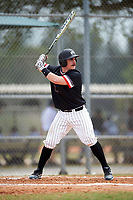 Edgewood College Eagles Nick Cheaney (27) at bat during the first game of a doubleheader against Western Connecticut Colonials on March 13, 2017 at the Lee County Player Development Complex in Fort Myers, Florida.  Edgewood defeated Western Connecticut 3-0.  (Mike Janes/Four Seam Images)