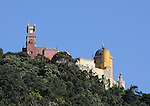 The Pena National Palace in Sintra, Portugal.