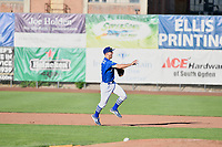 Kevin Lachance (5) of the Ogden Raptors throws to first base against the Orem Owlz in Pioneer League action at Lindquist Field on June 22, 2017 in Ogden, Utah. The Owlz defeated the Raptors 13-8.  (Stephen Smith/Four Seam Images)