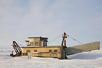 Derelict gold mining dredge, Nome, Alaska.