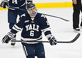 Stu Wilson (Yale - 6) - The visiting Yale University Bulldogs defeated the Harvard University Crimson 2-1 (EN) on Saturday, November 15, 2014, at Bright-Landry Hockey Center in Cambridge, Massachusetts.