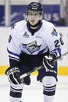 QMJHL (LHJMQ) hockey profile photo on Rimouski Oceanic Nicolas Hebert October 6, 2012 at the Colisee Pepsi in Quebec city.