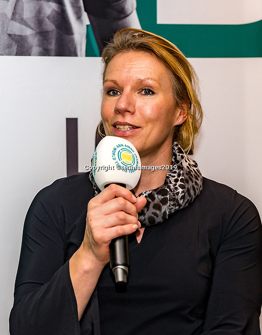 Rotterdam, The Netherlands, 10 Januari 2019, ABNAMRO World Tennis Tournament, Pressconference, Wheelchair Tournament Director Esther Vergeer<br /> Photo: www.tennisimages.com/Henk Koster