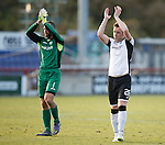 Inverness Caledonian Thistle v St Johnstone...24.10.15  SPFL  Tulloch Stadium, Inverness<br /> Liam Craig celebrates with Alan Mannus at full time<br /> Picture by Graeme Hart.<br /> Copyright Perthshire Picture Agency<br /> Tel: 01738 623350  Mobile: 07990 594431