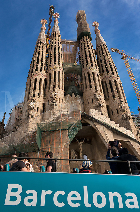 Passion facade, Basilica Sagrada Família, Barcelona, Spain