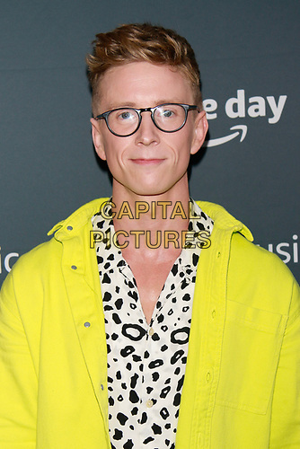 NEW YORK, NY - JULY 10: Tyler Oakley at Amazon's Prime Day Concert at Hammerstein Ballroom  on July 10, 2019 in New York City.<br /> CAP/MPI/DC<br /> ©DC/MPI/Capital Pictures