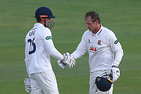 Essex centurions Alastair Cook (L) and Tom Westley during Essex CCC vs Hampshire CCC, Specsavers County Championship Division 1 Cricket at The Cloudfm County Ground on 19th May 2017