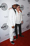 DJ Grandmaster Flash (left) and Roger Daltrey arrive at the We Are Family Foundation 2018 celebration gala at the Hammerstein Ballroom in New York City, on April 27 2018.