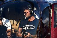 SÃO PAULO 26.07.2016 - LUCAS-LUCCO - O cantor Lucas Lucco é visto chegando helicóptero para desfilar no Mega Polo Week no Brás região leste da cidade de São Paulo na ultima terça-feira, 26(Foto: Eduardo Martins / Brazil Photo Press)
