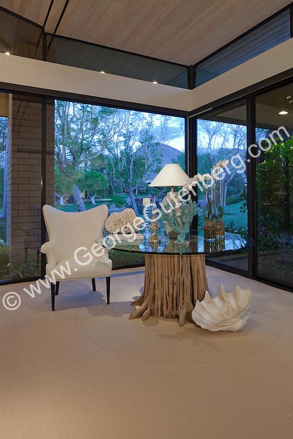 Beautiful sitting area by corner windows