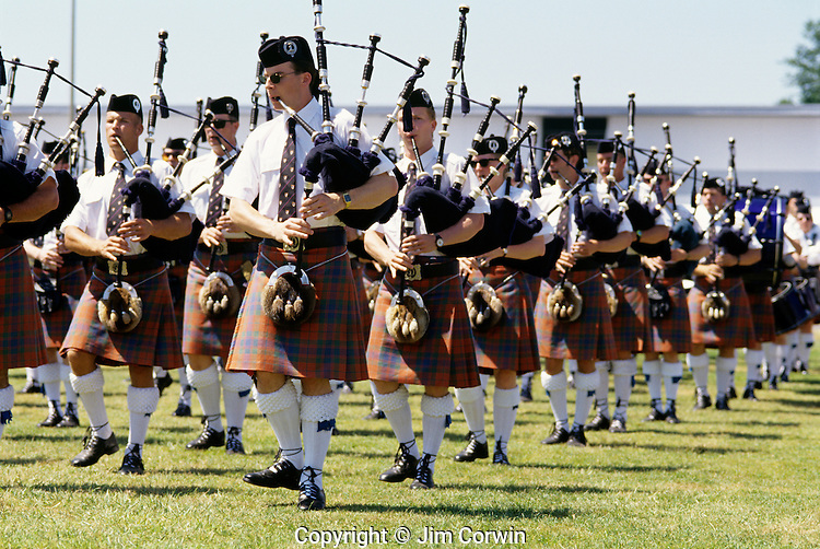 Highland Scottish Games bagpipe performers Enumclaw Washington State USA