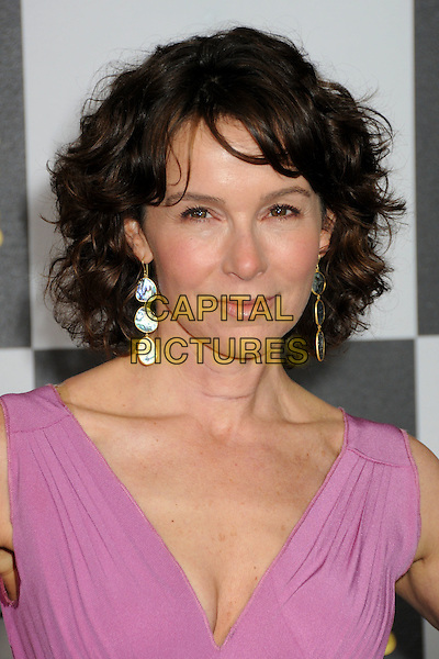 JENNIFER GREY.25th Annual Film Independent Spirit Awards - Arrivals held at the Nokia Event Deck at L.A. Live, Los Angeles, California, USA..March 5th, 2010.headshot portrait pink dangling earrings .CAP/ADM/BP.©Byron Purvis/AdMedia/Capital Pictures.