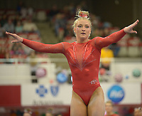 NWA Democrat-Gazette/ANDY SHUPE<br />Arkansas' Sarah Shaffer competes Friday, Jan. 12, 2018, in the floor portion of the 11th-ranked Razorbacks' meet with sixth-ranked Kentucky in Barnhill Arena in Fayetteville. Visit nwadg.com/photos to see more photographs from the meet.