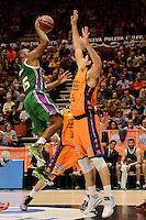 Loncar vs Granger<br /> Liga Endesa ACB - 2014/15<br /> J8<br /> Valencia Basket vs Unicaja