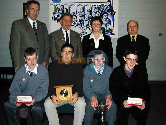 The Peader McCann prizewinners with Johnny Allen, Mary Adamson, Johnny Gregory and Oliver Tully..Picture Paul Mohan Newsfile