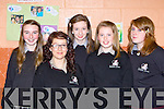Killarney Community College pupils who received honoured at their annual awards night on Thursday night f l-r:Brid Kerrick, Georgia Barnard, Mairead O'Sullivan, Aine O'Connor and Ruth Carey ..