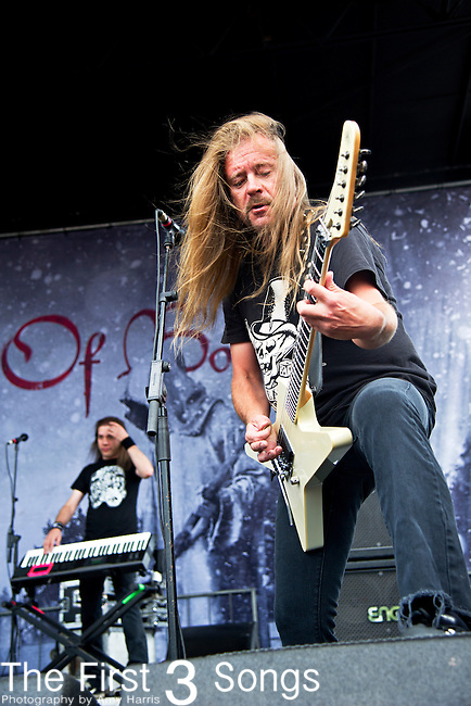 Roope Latvala of Children of Bodom performs during the 2013 Mayhem Festival at Klipsch Music Center in Indianapolis, Indiana.