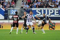 VOETBAL: HEERENVEEN: Abe Lenstra Stadion 29-08-2015, SC Heerenveen - PEC Zwolle, uitslag 1-1, Mitchel Te Vrede (#9), ©foto Martin de Jong