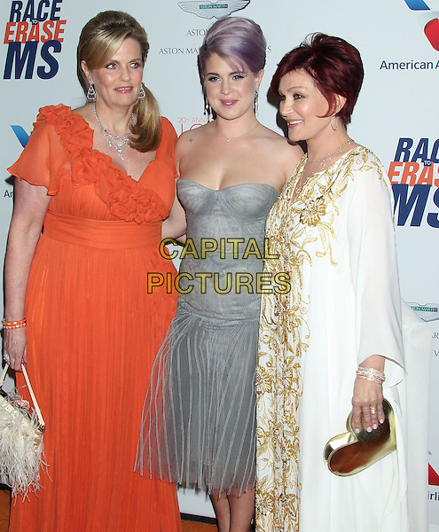Nancy Davis, Sharon Osbourne, Kelly Osbourne.20th Annual Race To Erase MS Gala held at the Hyatt Regency Century Plaza Hotel, Century City, California, USA 3rd May 2013.CAP/ADM/RE.©Russ Elliot/AdMedia/Capital Pictures
