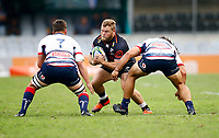 DURBAN, SOUTH AFRICA - MARCH 23: Akker van der Merwe of the Cell C Sharks during the Super Rugby match between Cell C Sharks and Rebels at Jonsson Kings Park on March 23, 2019 in Durban, South Africa. Photo: Steve Haag / stevehaagsports.com