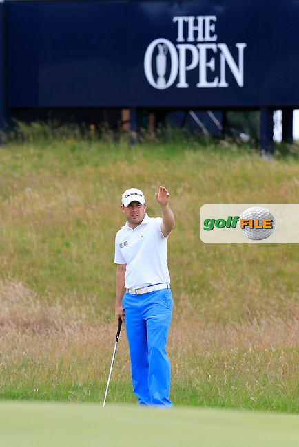 Richie RAMSAY (SCO) at the 17th green during Monday's Final Round of the 144th Open Championship, St Andrews Old Course, St Andrews, Fife, Scotland. 20/07/2015.<br /> Picture Eoin Clarke, www.golffile.ie