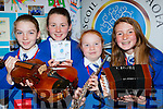 Amy O'sullivan, Aoife Coleman, Maria Savage and Amy O'Sullivan St Teresa NS Kilflynn who recorded a CD Kilflynn Beats for their Junior Entrepreneur project finals at the Malton Hotel on Wednesday