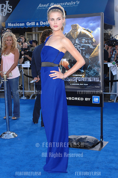 "Rachael Taylor at the Los Angeles premiere of her new movie ""Transformers""..June 28, 2007  Los Angeles, CA.Picture: Paul Smith / Featureflash"