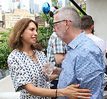 Sarah Stern and Sam Rudy attend the Retirement Celebration for Sam Rudy at Rosie's Theater Kids on July 17, 2019 in New York City.