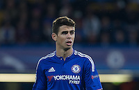 Oscar of Chelsea during the UEFA Champions League match between Chelsea and Maccabi Tel Aviv at Stamford Bridge, London, England on 16 September 2015. Photo by Andy Rowland.