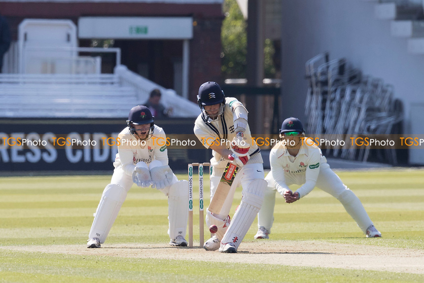 Stephen Eskinazi of Middlesex CCC defends during his half century during Middlesex CCC vs Lancashire CCC, Specsavers County Championship Division 2 Cricket at Lord's Cricket Ground on 11th April 2019