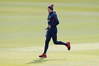 Peter Siddle of Essex runs out to warm up during Surrey CCC vs Essex CCC, Specsavers County Championship Division 1 Cricket at the Kia Oval on 11th April 2019
