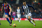 2nd December 2017, The Hawthorns, West Bromwich, England; EPL Premier League football, West Bromwich Albion versus Crystal Palace; Kieran Gibbs of West Bromwich Albion on the attack with the ball chased by Joel Ward of Crystal Palace