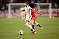 CARSON, CA - FEBRUARY 7: Renae Cuellar #9 of Mexico dribbles with the ball during a game between Mexico and USWNT at Dignity Health Sports Park on February 7, 2020 in Carson, California.