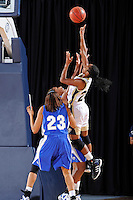12 January 2012:  FIU guard Jerica Coley (22) shoots a jump shot in the first half as the Middle Tennessee State University Blue Raiders defeated the FIU Golden Panthers, 74-60, at the U.S. Century Bank Arena in Miami, Florida.