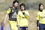 (L-R) Saki Kumagai, Yoko Tanaka, Emi Nakajima (JPN), MARCH 6, 2013 - Football / Soccer : The 2013 Algarve Women's Football Cup match between Japan 0-2 Norway at Estadio Municipal da Bela Vista, Parchal, Portugal. (Photo by AFLO) [3604]