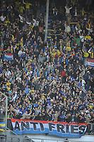 VOETBAL: HEERENVEEN, Abe Lenstra Stadion, 29-09-2013, SC Heerenveen - SC Cambuur, uitslag 2-1, Cambuur supporters, ©foto Martin de Jong