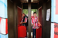 Lincoln City fans arrive at the ground<br /> <br /> Photographer Chris Vaughan/CameraSport<br /> <br /> The EFL Sky Bet League Two - Lincoln City v Swindon Town - Saturday 11th August 2018 - Sincil Bank - Lincoln<br /> <br /> World Copyright &copy; 2018 CameraSport. All rights reserved. 43 Linden Ave. Countesthorpe. Leicester. England. LE8 5PG - Tel: +44 (0) 116 277 4147 - admin@camerasport.com - www.camerasport.com